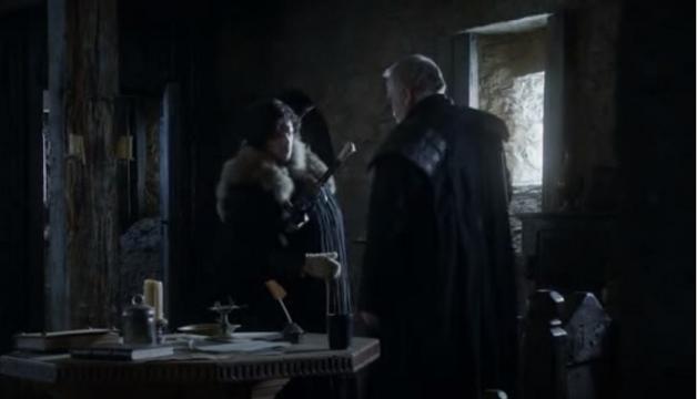 Game of Thrones: Jon Snow's hand in season 1. Screencap: Jaryn. via YouTube
