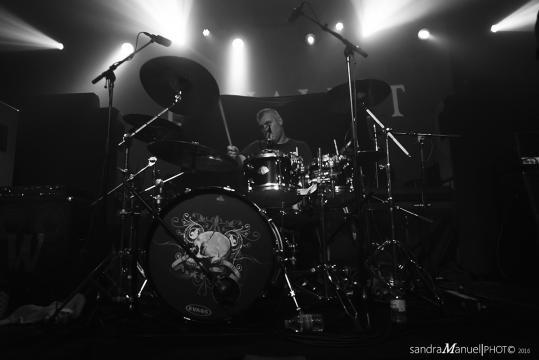 Marco, baterista dos Equaleft, em grande forma