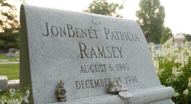 La tumba de JonBenét Patricia Ramsey