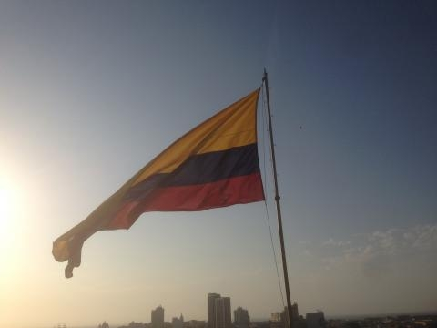 Colombians have pride in their nation. Photo by Anny Wooldridge of Anny's Adventures
