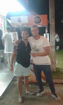 Tiago Ginga com Marco Costa em festa