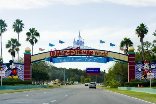 The Disney banner welcomes guests to the park. Photo courtesy of wesh.com