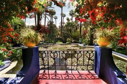 Veduta dei Giardini Majorelle in tutta la loro magnificenza.