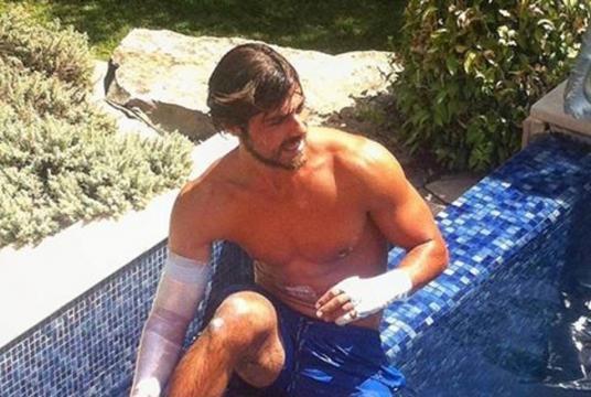 Lourenço Ortigão já foi até à piscina