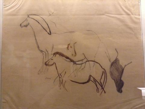 Los vestigios que ilustran el diseño de dibujos con formas animales en las cavernas