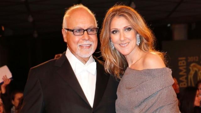 Céline Dion with her husband René Angélil - go.com