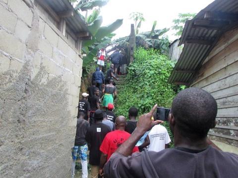 Le collectif au Lieu dit Sierra à Douala
