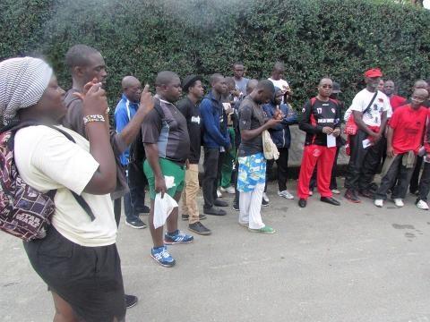 Marche sportive à Douala avec le collectif