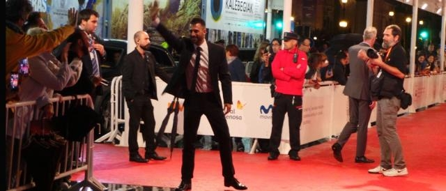 Hugo Silva en la red carpet/ Andrés Quiñones