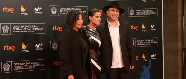 Inma Cuesta en la red carpet del Zinemaldia