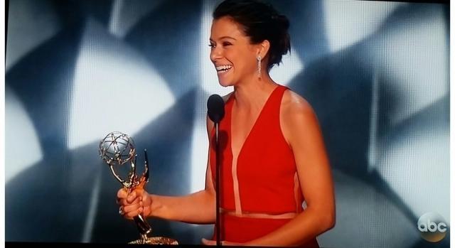 Actress Tatiana Maslany at 68th Primetime Emmy Awards. Screenshot credit to Colleen Bement