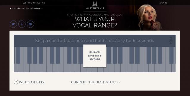 Christina Aguilera's Range Finder - rebeccabortman.com