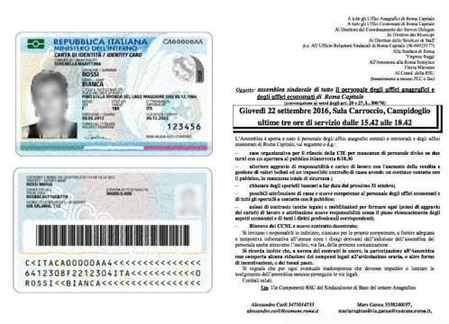 La nuova carta di identità e la convocazione sindacale per il 22 settembre.