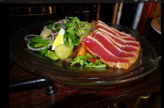 Fresh tuna makes this salad special. (Photo by Barb Nefer)