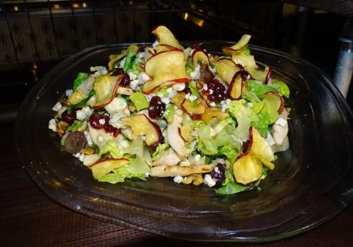 Salads are available for lighter appetites. (Photo by Barb Nefer)