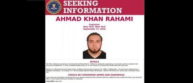 Ahmad Rahami wanted information released, via YouTube