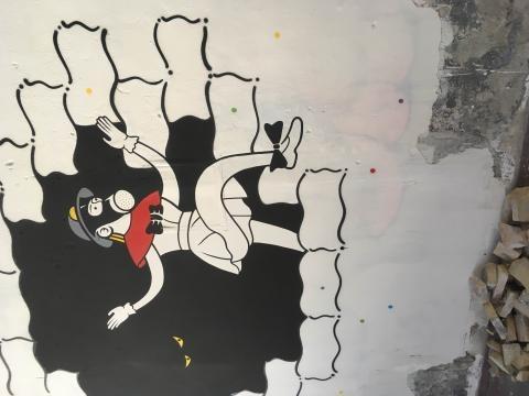 graffiti nell'ex caserma Guido reni per outdopor festival