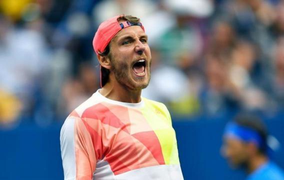 Pouille durante el partido ante Rafa Nadal en el US Open
