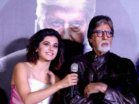 Amitabh Bachchan, Taapsee Pannu at Pink trailer launch | bollywood ... - hindustantimes.com