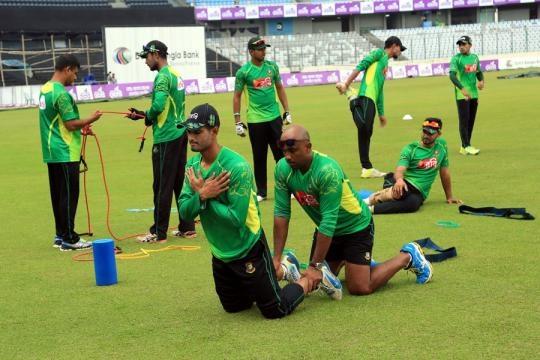 Bangladesh v Afghanistan - Practice session at Dhaka (Panasiabiz.com)