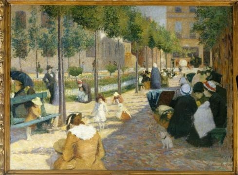Federico Zandomeneghi, Place d'Anvers, 1880, Parigi