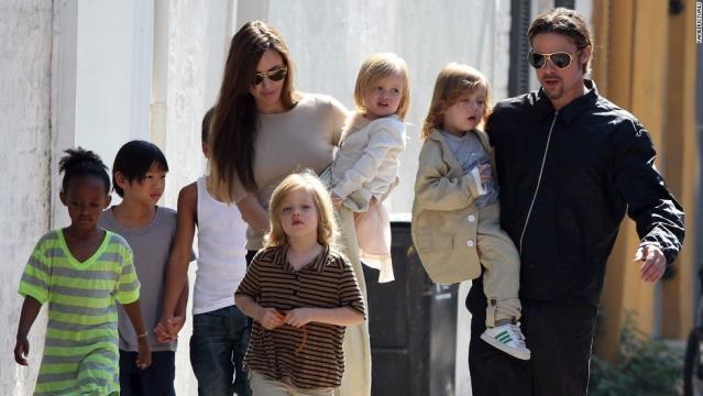 La famille Brangelina au complet : 6 enfants pour Brad Pitt et Angelina Jolie !