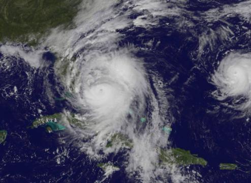Uragano Matthew ripreso dal satellite NASA Aqua. Crediti: NASA/NOAA GOES Project