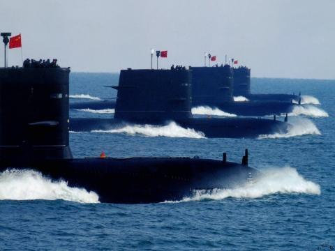 Maniobras navales de China en el mar amarillo.