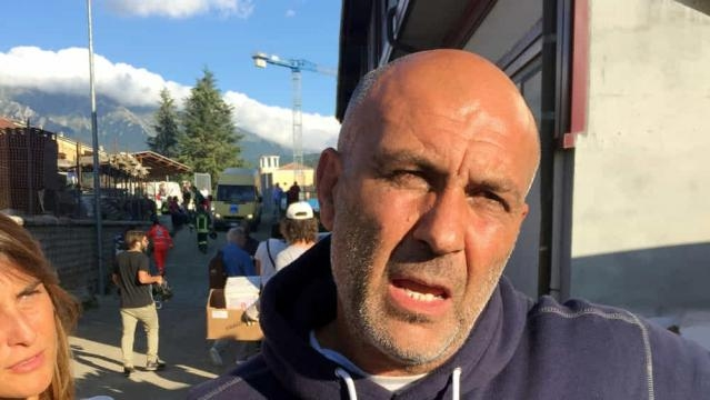 Il sindaco di amatrice Sergio Pirozzi