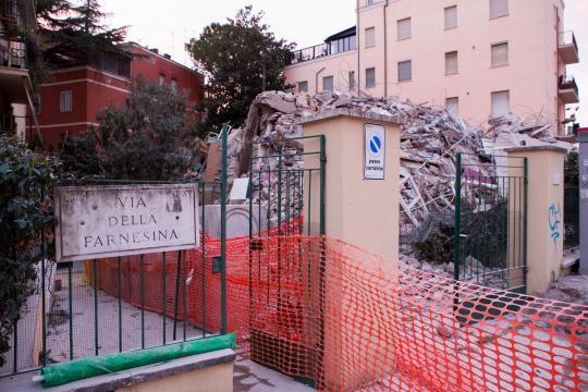 Il palazzo come si presentava al termine della demolizione