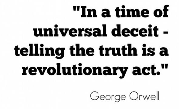 A quote taken from George Orwell's classic dystopian novel 1984