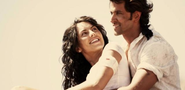 Barbara Mori et Hrithik Roshan dans le film Kites
