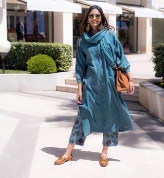 Sonam Kapoor in beautiful light blue