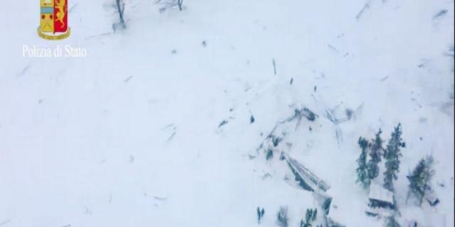 Avalancha cayó sobre hotel de Italia dejando varios desaparecidos