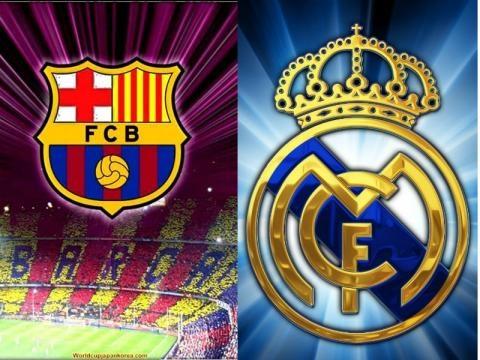 Escudos de barceloa y Real Madrid