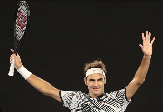 Federer continue d'écrire sa légende
