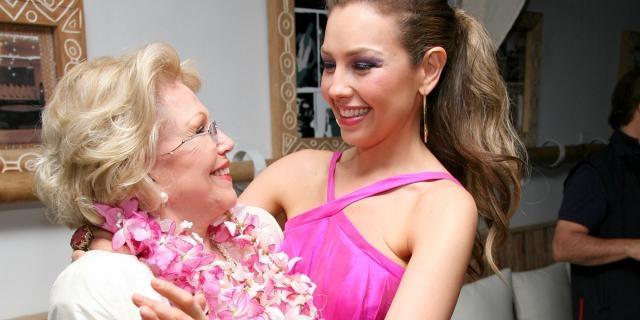 Thalia Sodi avec sa mère Yolanda Miranda