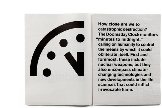 Behind the Design of the Doomsday Clock - The Atlantic - theatlantic.com