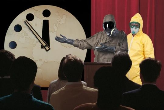 Doomsday Clock Scientists Wearing Hazmat Suits for Some Reason ... - robotbutt.com