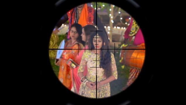 Shooter aims at Anika in IShqbaaz (youtube screen grab)