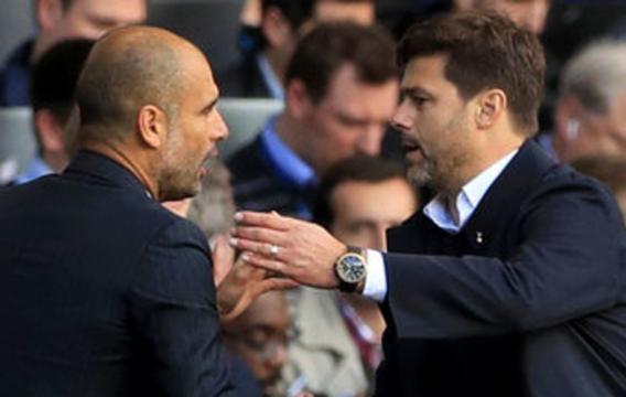 Mauricio Pochettino shakes hands with Pep Guardiola after Spurs' 2-0 victory - irishnews.com