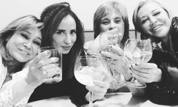 Mila Ximenez, Maria Patiño, Chelo Garcia Cortés y Belen Esteban un día juntas entre amigas