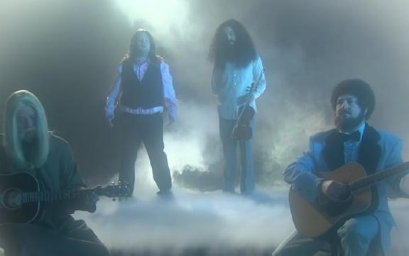 """Jim Parsons and James Corden spoofing the """"Dust In The Wind"""" video ... - yahoo.com"""