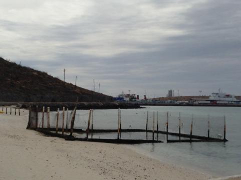 Puerto y playa de Pichilingue en Baja California Sur