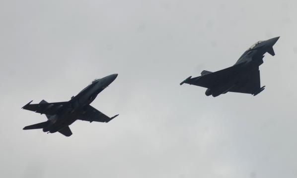 El EF-2000 y el F-a18 los dos caballos de batalla del Ejército del Aire.