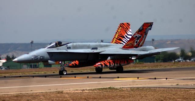 El F-18. El veterano caza realizará su primera misión en el Báltico este año.