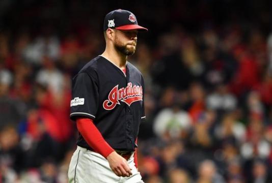 Corey Kluber volvió a fallar en un juego decisivo, como el Juego 7 de la World Series 2016 vs los Cubs. NY Daily News.com.