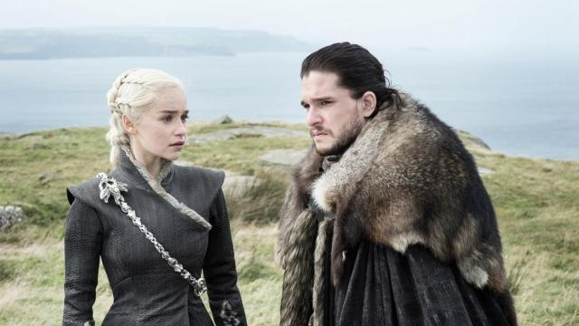 Daenerys con Jon Snow el Rey del Norte