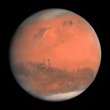 Foto del Pianeta rosso, Marte.