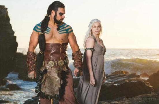 La Madre de Dragones Con Khal Drogo